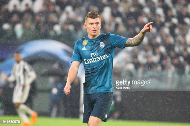 Toni Kroos during the first leg of the quarter finals of the UEFA Champions League 2017/18 between Juventus FC and Real Madrid CF at Allianz Stadium...