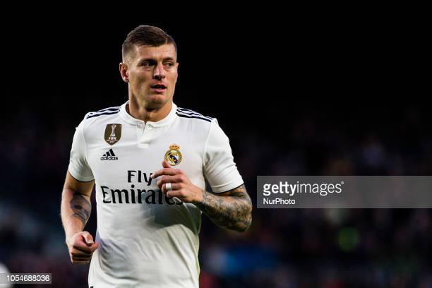 08 Toni Kroos from Germany of Real Madrid during the Spanish championship La Liga football match quotEl Classicoquot between FC Barcelona and Real...
