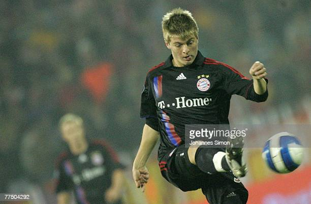 Toni Kroos of Bayern in action during the UEFA Cup group F match between Crvena Zvezda and Bayern Munich at Crvena Zvezda Stadium on October 25, 2007...