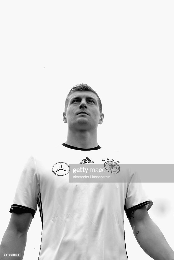 Toni Kroos of Germany arrives for the presentation of Germany's team for the UEFA 2016 European Championship in France on June 2, 2016 in Ascona, Switzerland.