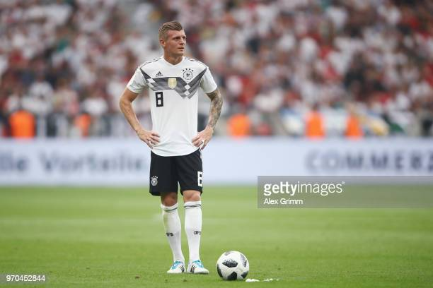 Toni Kroos of Germany controls the ball during the international friendly match between Germany and Saudi Arabia ahead of the FIFA World Cup Russia...