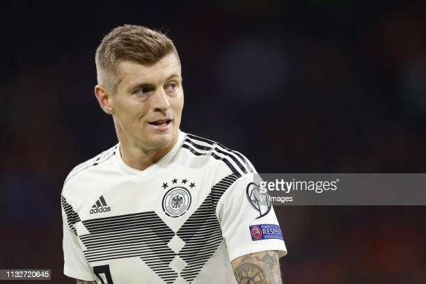 Toni Kroos of Germany during the UEFA EURO 2020 qualifier group C qualifying match between The Netherlands and Germany at the Johan Cruijff Arena on...