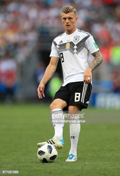 Toni Kroos of Germany in action during the 2018 FIFA World Cup Russia group F match between Germany and Mexico at Luzhniki Stadium on June 17 2018 in...