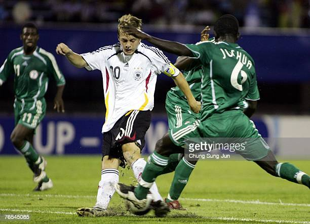 Toni Kroos of Germany in action during the FIFA U17 World Cup semi final match between Nigeria and Germany at the Suwon Sports Complex on September 6...