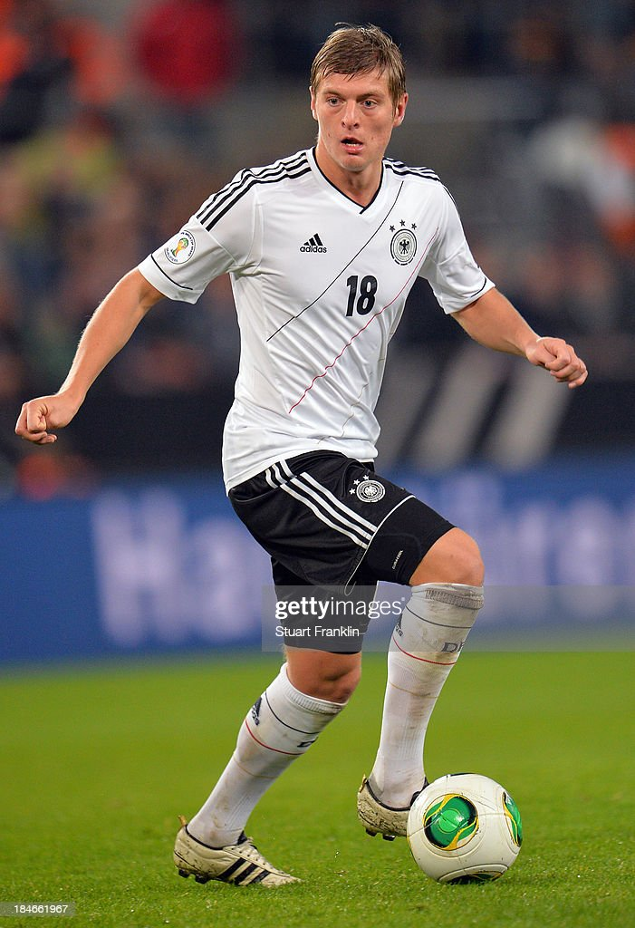 Toni Kroos of Germany in action during the FIFA world Cup 2014 qualification match between Germany and Republic of Ireland at the Rheinenergy stadium on October 11, 2013 in Cologne, Germany.
