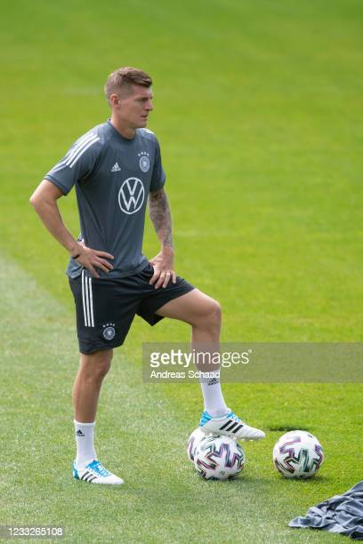 Toni Kroos of Germany is during Day 8 of the Germany training camp ahead of the UEFA EURO 2020 on June 04, 2021 in Seefeld in Tirol, Austria.
