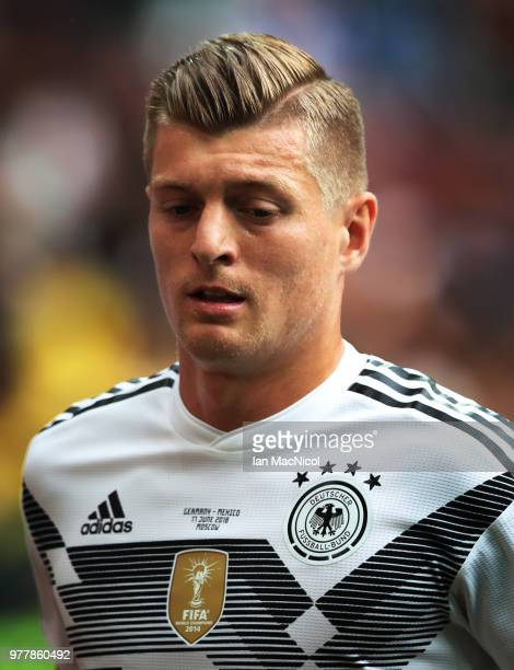 Toni Kroos of Germany is seen during the 2018 FIFA World Cup Russia group F match between Germany and Mexico at Luzhniki Stadium on June 17 2018 in...