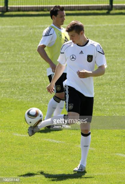 Toni Kroos of Germany is seen in action during a training session at Sportzone Rungg on May 22, 2010 in Appiano sulla Strada del Vino, Italy.