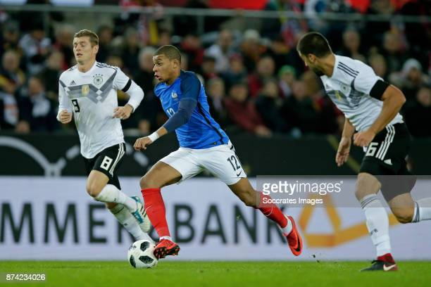 Toni Kroos of Germany Kylian Mbappe of France Sami Khedira of Germany during the International Friendly match between Germany v France at the...