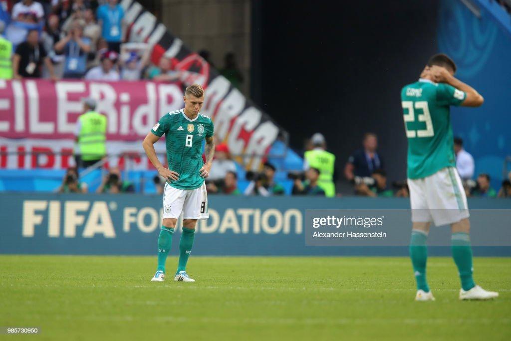 Korea Republic v Germany: Group F - 2018 FIFA World Cup Russia : Nieuwsfoto's