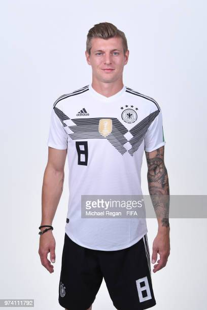 Toni Kroos of Germany pose for a photo during the official FIFA World Cup 2018 portrait session on June 13 2018 in Moscow Russia