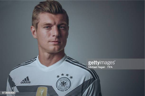 Toni Kroos of Germany poses during the official FIFA World Cup 2018 portrait session on June 13 2018 in UNSPECIFIED Russia