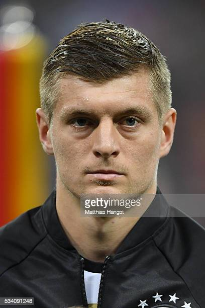 Toni Kroos of Germany poses prior to the International Friendly match between Germany and Italy at Allianz Arena on March 29 2016 in Munich Germany