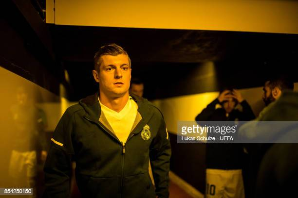 Toni Kroos of Madrid is focused in the player tunnel prior to the UEFA Champions League group H match between Borussia Dortmund and Real Madrid at...