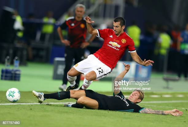 Toni Kroos of Real Madrid and Henrikh Mkhitaryan in action during Super UEFA super Cup match between Real Madrid and Manchester United on August 8...