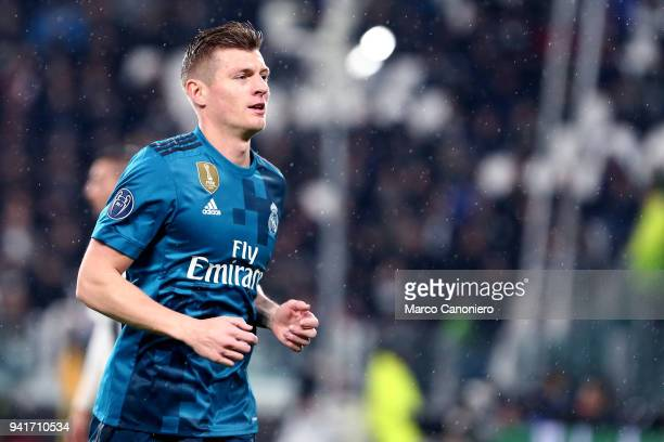 Toni Kroos of Real Madrid Cf during the UEFA Champions League quarter final first leg football match between Juventus FC and Real Madrid Cf Real...