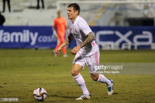 Toni Kroos of Real Madrid CF in action during the spanish cup, Copa del Rey round of 32, football match played between CD Alcoyano and Real Madrid at...