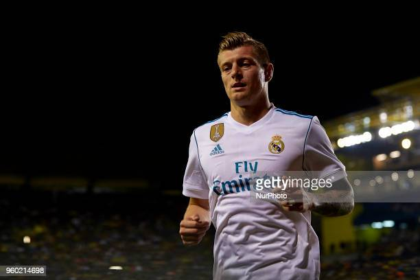 Toni Kroos of Real Madrid CF looks on during the La Liga game between Villarreal CF and Real Madrid CF at Estadio de la Ceramica on May 19 2018 in...