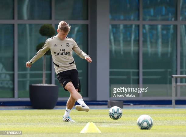 Toni Kroos of Real Madrid during a first training session since the Covid19 pandemic at Valdebebas training ground on May 11 2020 in Madrid Spain