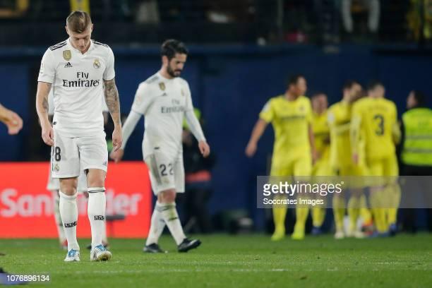 Toni Kroos of Real Madrid during the La Liga Santander match between Villarreal v Real Madrid at the Estadio de la Ceramica on January 3 2019 in...
