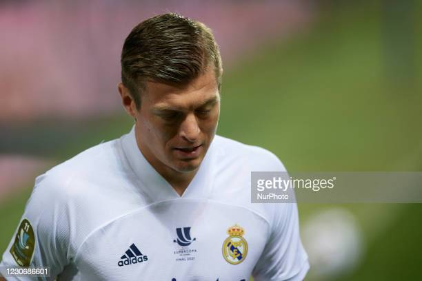 Toni Kroos of Real Madrid during the Supercopa de Espana Semi Final match between Real Madrid and Athletic Club at Estadio La Rosaleda on January 14,...