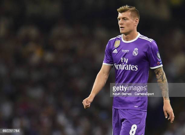 Toni Kroos of Real Madrid during the UEFA Champions League Final match between Juventus and Real Madrid at National Stadium of Wales on June 3 2017...