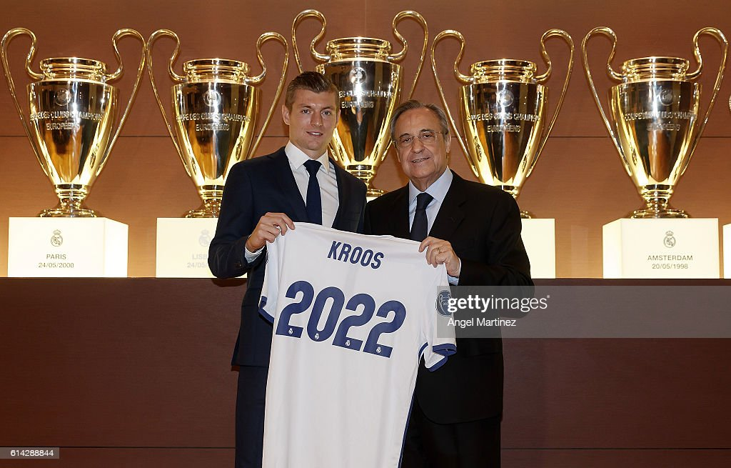 Toni Kroos Signs a Contract Extension with Real Madrid : News Photo