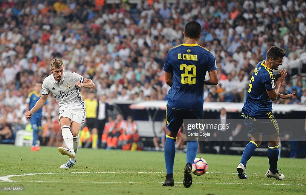 Toni Kroos Of Real Madrid Scores Reals Nd Goal During The La Liga Match Between Real