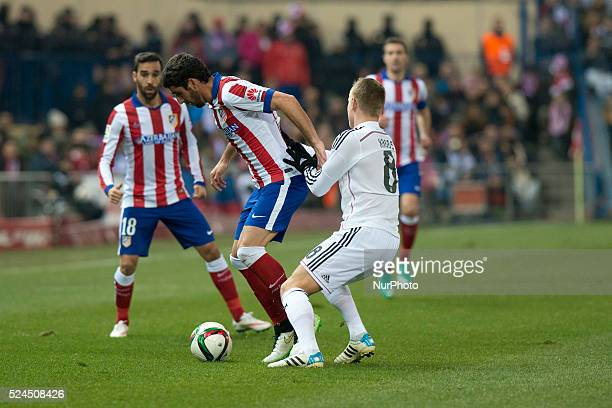 Toni Kross of Real Madrid during the Copa del Rey Round of 16 First Leg match between Club Atletico de Madrid and Real Madrid at Vicente Calderon...
