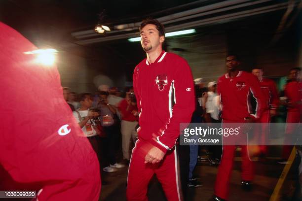 Toni Kukoc of the Chicago Bulls is seen before the game against the Utah Jazz on June 8 1997 at the Delta Center in Salt Lake City UT NOTE TO USER...