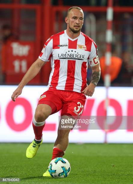 Toni Leistner of Berlin runs with the ball during the Second Bundesliga match between 1 FC Union Berlin and Eintracht Braunschweig at Stadion An der...