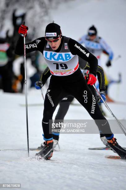 Toni Livers of Switzerland skies in the men's 15 km freestyle world cup race in Gallivare on November 20 2010 AFP PHOTO/FREDRIK SANDBERG / AFP PHOTO...