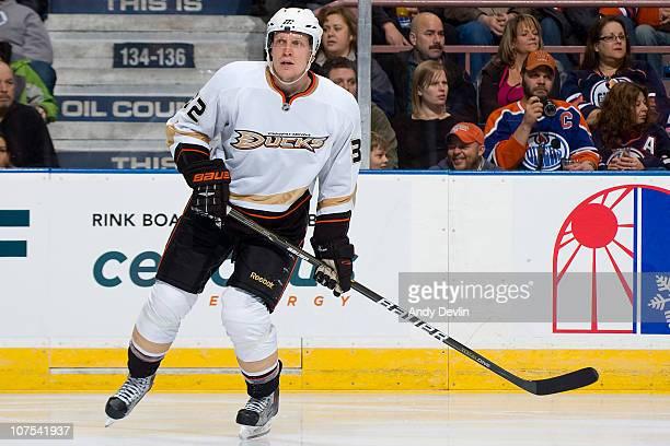 Toni Lydman of the Anaheim Ducks skates against the Edmonton Oilers at Rexall Place on December 7 2010 in Edmonton Alberta Canada The Ducks won 32