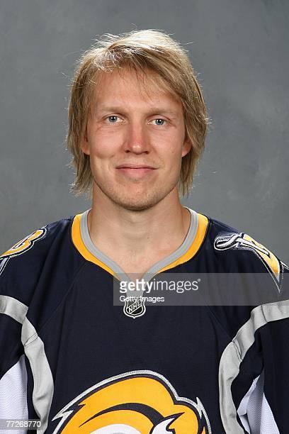 Toni Lydman of the Buffalo Sabres poses for his 2007 NHL headshot at photo day in Buffalo New York