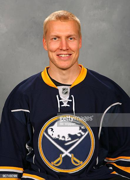 Toni Lydman of the Buffalo Sabres poses for his official headshot for the 20092010 NHL season
