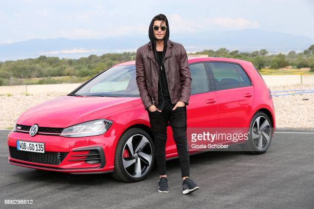 Toni Mahfud during the international driving presentation of the new Volkswagen Golf electric car on April 6 2017 at race course Circuito Llucmajor...