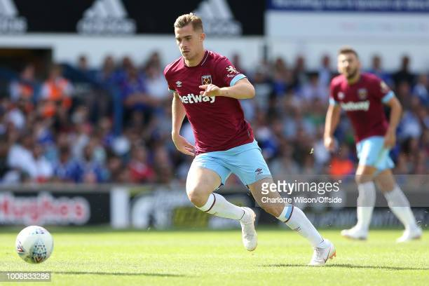 Toni Martinez of West Ham during the PreSeason Friendly match between Ipswich Town and West Ham United at Portman Road on July 28 2018 in Ipswich...