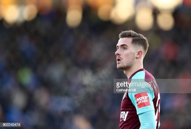 Toni Martínez of West Ham United during the Emirates FA Cup Third Round match between Shrewsbury Town and West Ham United at New Meadow on January 7...