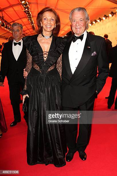 Toni Meggle and his wife Marina during the Bambi Awards 2014 on November 13 2014 in Berlin Germany