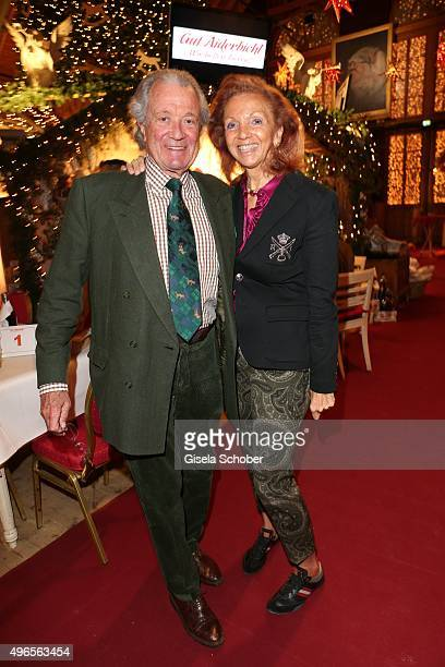 Toni Meggle and his wife Marina Meggle during the Gut Aiderbichl Christmas Market 2015 opening on November 10 2015 in Henndorf am Wallersee near...
