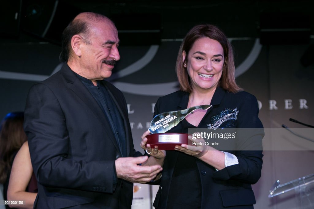Toni Moreno (R) attends the 'Pata Negra' awards at the Corral de la Moreria club on February 20, 2018 in Madrid, Spain.