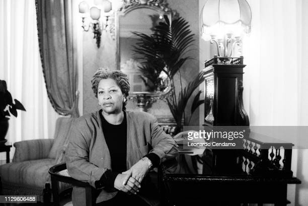 Toni Morrison, American writer, Grande Hotel et Milan, Giuseppe Verdi's room, Milan, Italy, 23rd November 1994.