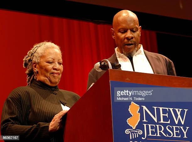 Toni Morrison and Avery Brooks attends the 2nd Annual New Jersey Hall of Fame Induction Ceremony at the New Jersey Performing Arts Center on May 3...