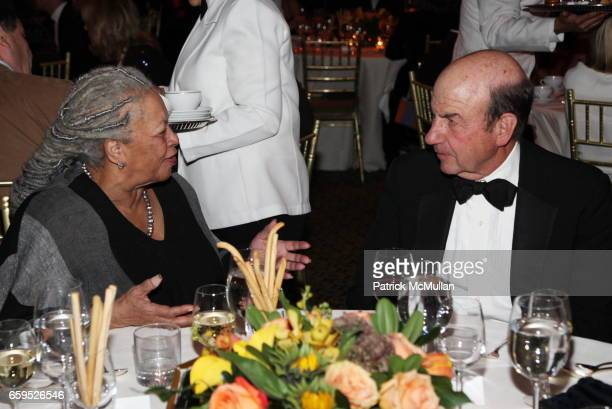 Toni Morrison and Calvin Trillin attend The First Annual NORMAN MAILER Writers Colony Benefit Gala at Cipriani 42nd Street on October 20 2009 in New...