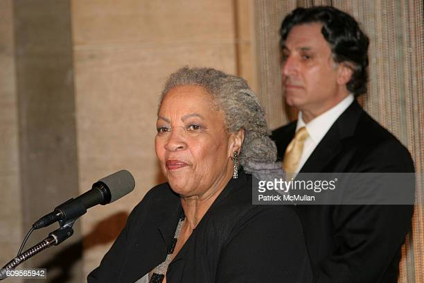 Toni Morrison and Richard Danielpour attend New York City Opera opens its Fall Season with the New York Premiere of Margaret Garner at New York State...