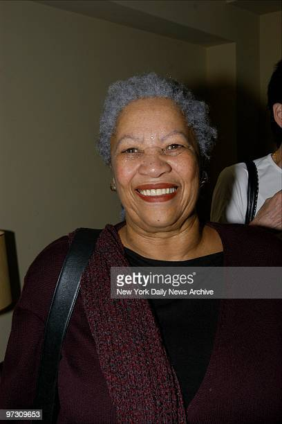 Toni Morrison attends a book party for Scott Spencer's novel A Ship Made of Paper at the apartment of actor Griffin Dunne