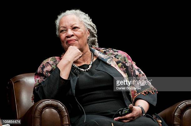 Toni Morrison attends the Carl Sandburg literary awards dinner at the University of Illinois at Chicago Forum on October 20 2010 in Chicago Illinois