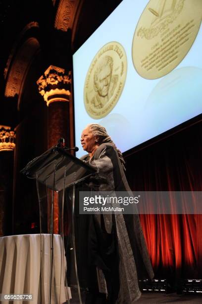 Toni Morrison attends The First Annual NORMAN MAILER Writers Colony Benefit Gala at Cipriani 42nd Street on October 20 2009 in New York City