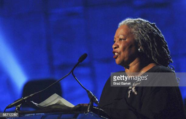Toni Morrison performs at the Jazz At Lincoln Centers Concert For Hurricane Relief at the Rose Theater at Jazz at Lincoln Center on September 17 2005...