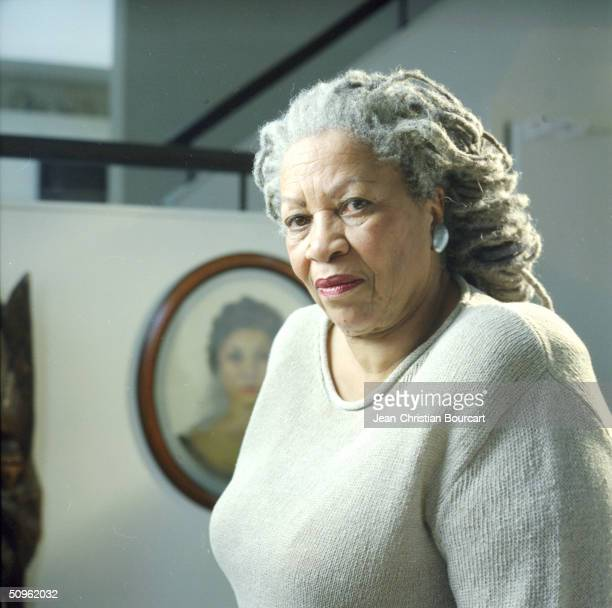 Toni Morrison poses February 2, 2004 in her downtown Manhattan apartment in New York City.